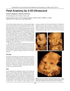 Fetal Anatomy by 3-4D Ultrasound