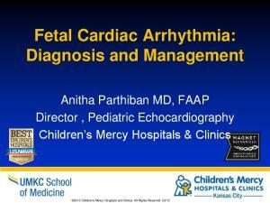 Fetal Cardiac Arrhythmia: Diagnosis and Management