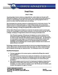 Fetal Pain. Arina O. Grossu