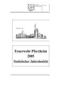 Feuerwehr Pforzheim - Statistischer Jahresbericht Seite 2 -