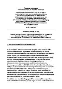 Öffentliche Anhörung des Haushaltsausschusses des Deutschen Bundestages
