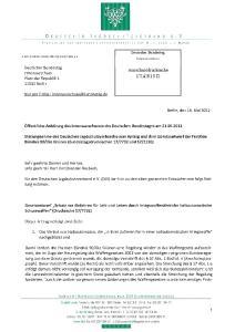 Öffentliche Anhörung des Innenausschusses des Deutschen Bundestages am