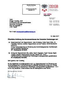 Öffentliche Anhörung des Innenausschusses des Deutschen Bundestages zum