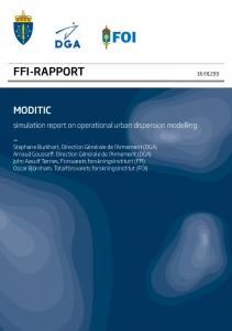FFI-RAPPORT MODITIC. simulation report on operational urban dispersion modelling