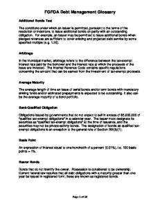 FGFOA Debt Management Glossary