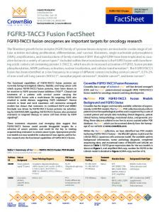 FGFR3-TACC3 fusion oncogenes are important targets for oncology research. PDX Tumor Pathology QC. Genomic Profiling