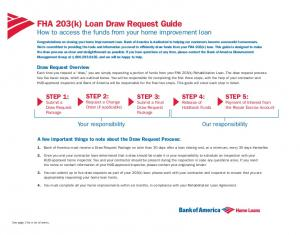 FHA 203(k) Loan Draw Request Guide How to access the funds from your home improvement loan