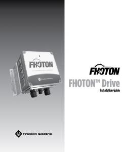 FHOTON Drive. Installation Guide