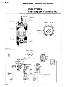 FI 124 Fuel System (Fuel Pump (4A FE and 5S FE)) FUEL SYSTEM Fuel Pump (4A FE and 5S FE)