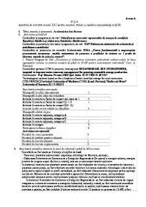 FIŞ A raportului de activitate în anul 2012 pentru membrii titulari şi membrii corespondenţi ai AŞM
