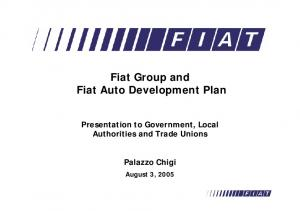 Fiat Group and Fiat Auto Development Plan