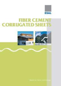 FIBER CEMENT CORRUGATED SHEETS