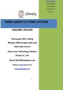 FIBER LASER CUTTING SYSTEM
