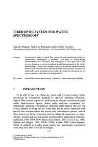 FIBER OPTIC SYSTEM FOR WATER SPECTROSCOPY