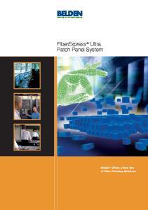 FiberExpress Ultra Patch Panel System