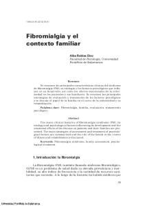 Fibromialgia y el contexto familiar