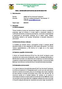 FICHA 1: INFORMACIÓN INSTITUCIONAL DEL CENTRO EDUCATIVO
