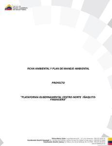 FICHA AMBIENTAL Y PLAN DE MANEJO AMBIENTAL PROYECTO