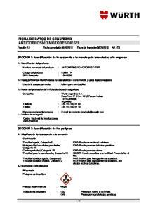 FICHA DE DATOS DE SEGURIDAD ANTICORROSIVO MOTORES DIESEL