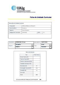 Ficha de Unidade Curricular