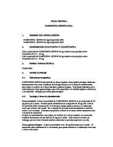 FICHA TECNICA FAMOTIDINA ESTEVE, E.F.G. 2. COMPOSICION CUALITATIVA Y CUANTITATIVA