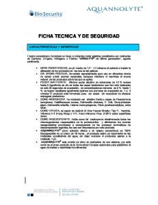 FICHA TECNICA Y DE SEGURIDAD