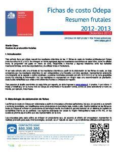 Fichas de costo Odepa