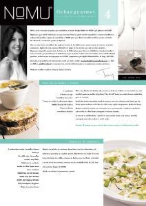 fichas gourmet recetario trimestral