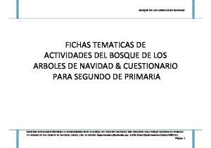 FICHAS TEMATICAS DE ACTIVIDADES DEL BOSQUE DE LOS ARBOLES DE NAVIDAD & CUESTIONARIO PARA SEGUNDO DE PRIMARIA