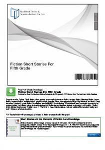 Fiction Short Stories For Fifth Grade