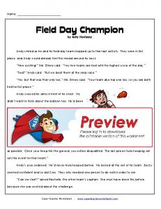 Field Day Champion by Kelly Hashway