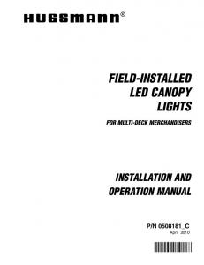 FIELD-INSTALLED LED CANOPY LIGHTS