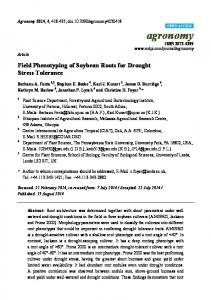 Field Phenotyping of Soybean Roots for Drought Stress Tolerance