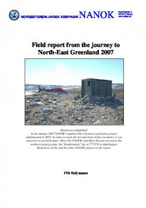 Field report from the journey to North-East Greenland 2007