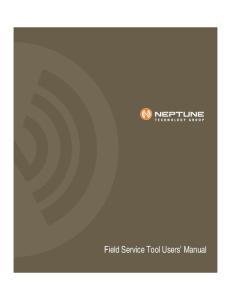 Field Service Tool Users Manual