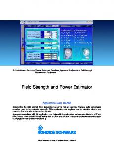 Field Strength and Power Estimator