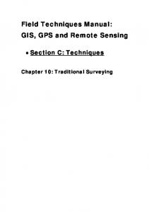 Field Techniques Manual: GIS, GPS and Remote Sensing