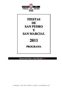 FIESTAS DE SAN PEDRO Y SAN MARCIAL