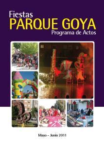 Fiestas PARQUE GOYA. Programa de Actos