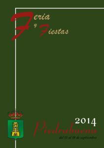 Fiestas. Piedrabuena. del 13 al 18 de septiembre