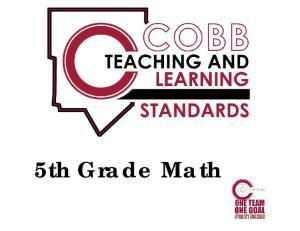 Fifth Grade Mathematics Teaching & Learning Framework