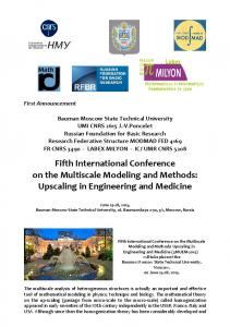 Fifth International Conference on the Multiscale Modeling and Methods: Upscaling in Engineering and Medicine