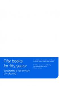 Fifty books for fifty years: celebrating a half century of collecting