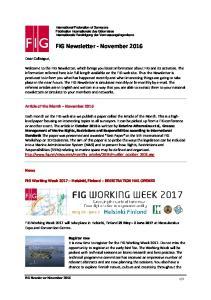 FIG Newsletter - November 2016