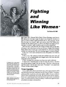 Fighting and Winning Like Women*