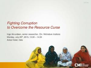 Fighting Corruption to Overcome the Resource Curse