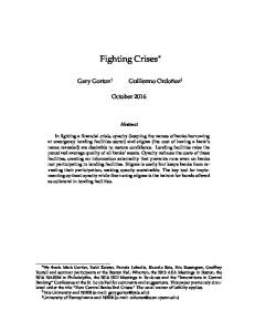 Fighting Crises. October Abstract