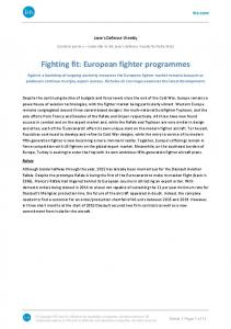Fighting fit: European fighter programmes