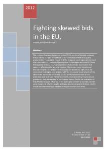 Fighting skewed bids in the EU,