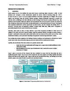 Figure 1: Overview of Preparatory Mathematics intervention